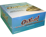 OH YEAH ORIGINAL HIGH PROTEIN BAR BARRAS PROTEINAS 12 UN COOKIES
